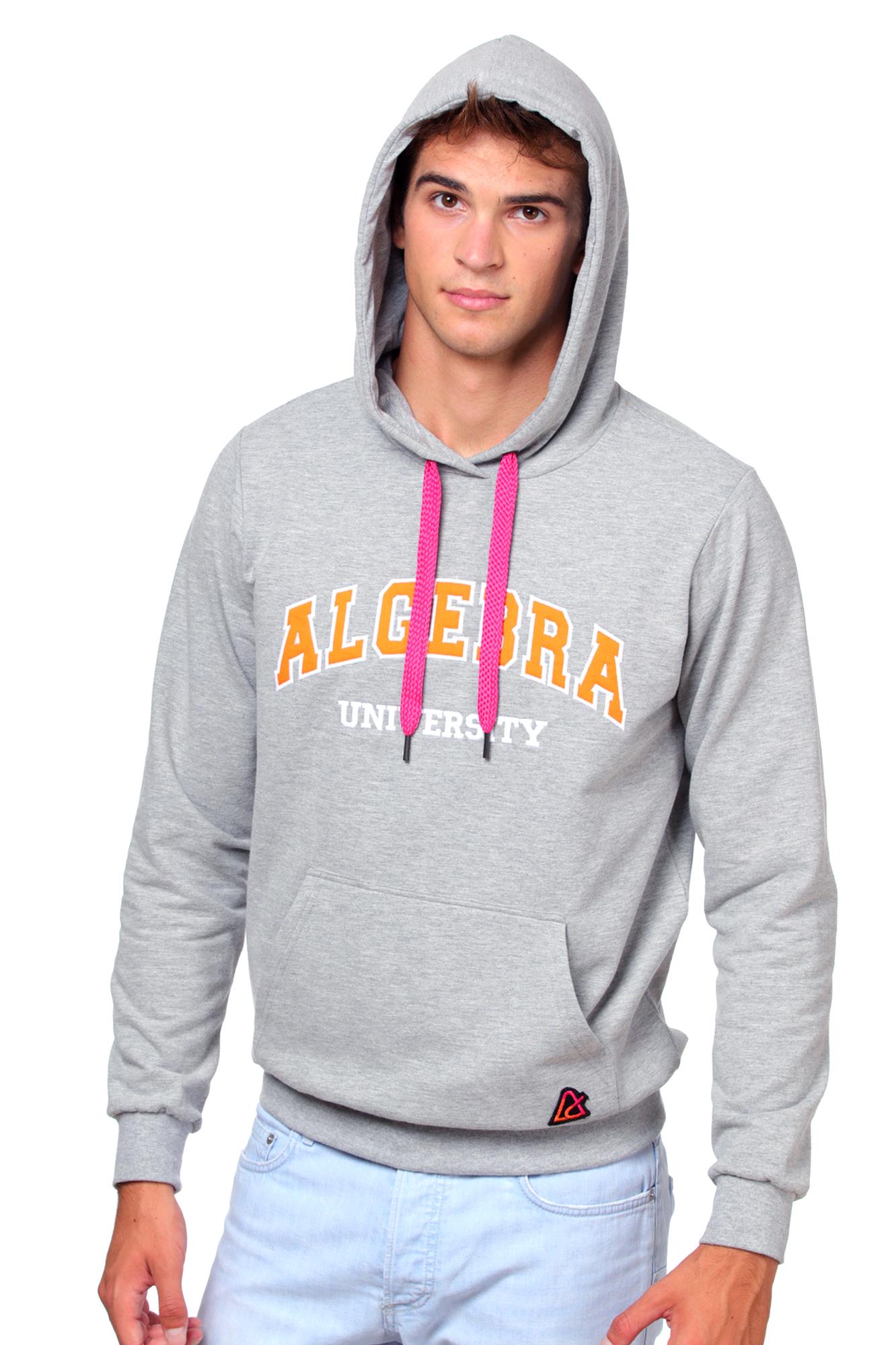 Siva majica s kapuljačom Algebra – unisex